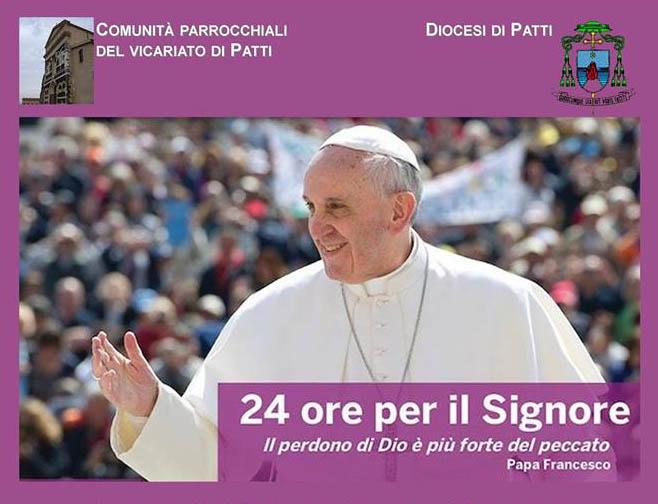 Patti: da venerdì 13 marzo in Cattedrale «24 ore per il Signore»