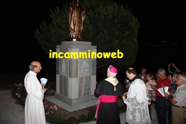 Tindari: inaugurato ieri il monumento dedicato a San Giovanni Paolo II; guarda le FOTO