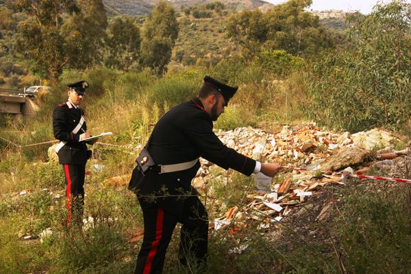 San Salvatore di Fitalia: sequestrate dai Carabinieri 4 discariche abusive e denunciato una persona