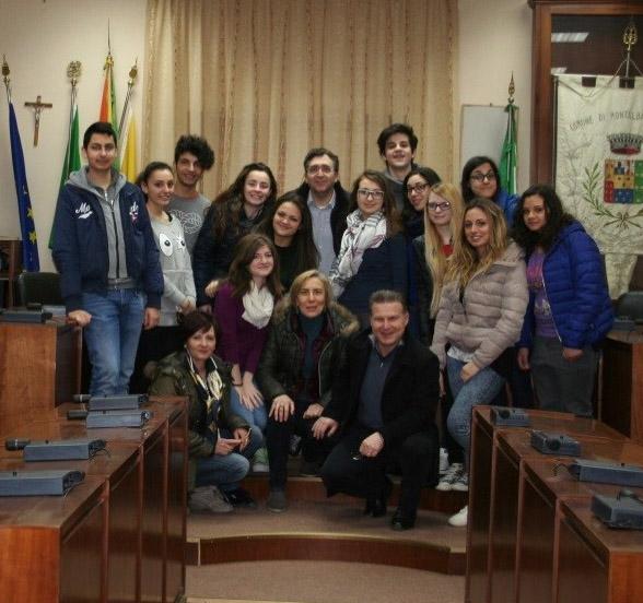Patti: gli studenti del «Borghese-Faranda» intervistano il sindaco di Montalbano Elicona