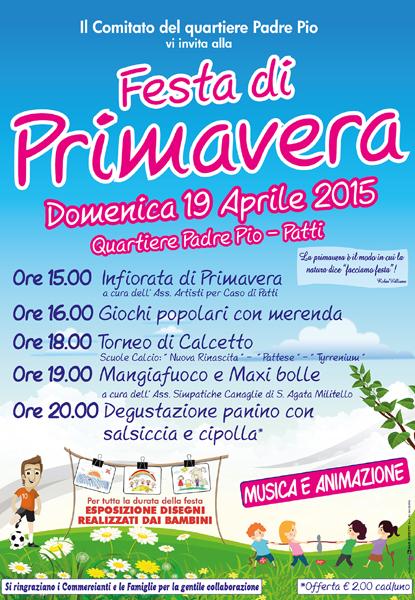 Patti: tutto pronto per la «Festa di Primavera» in programma il 19 aprile