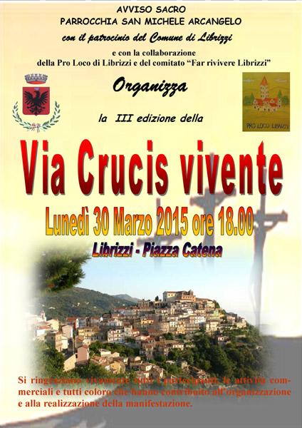 """Librizzi: Lunedì 30 Marzo si svolgerà la III edizione della """"Via Crucis vivente"""""""