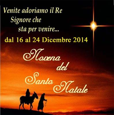 Patti: martedì 16 dicembre inizia la Novena di Natale; gli orari nelle Chiese della città e frazioni