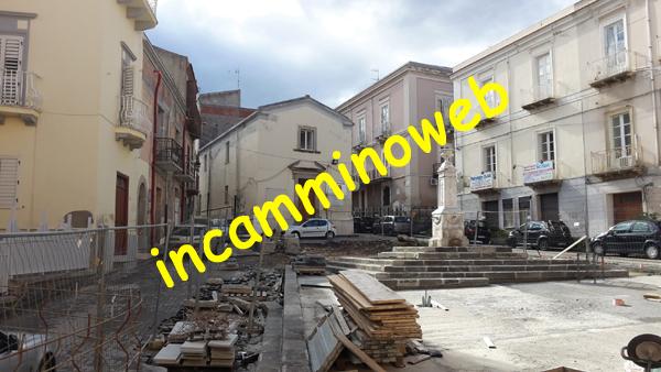 Patti: dopo una sosta di tre mesi riprendono i lavori in piazza Niosi