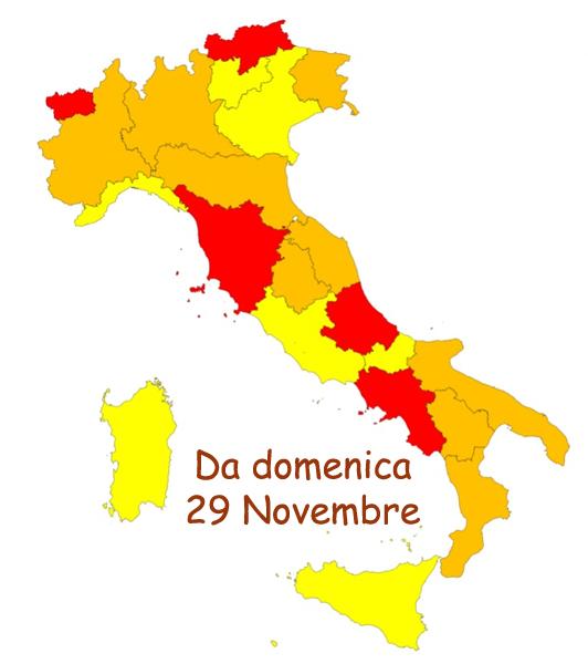 Coronavirus: la Sicilia da domenica 29 novembre sarà zona gialla