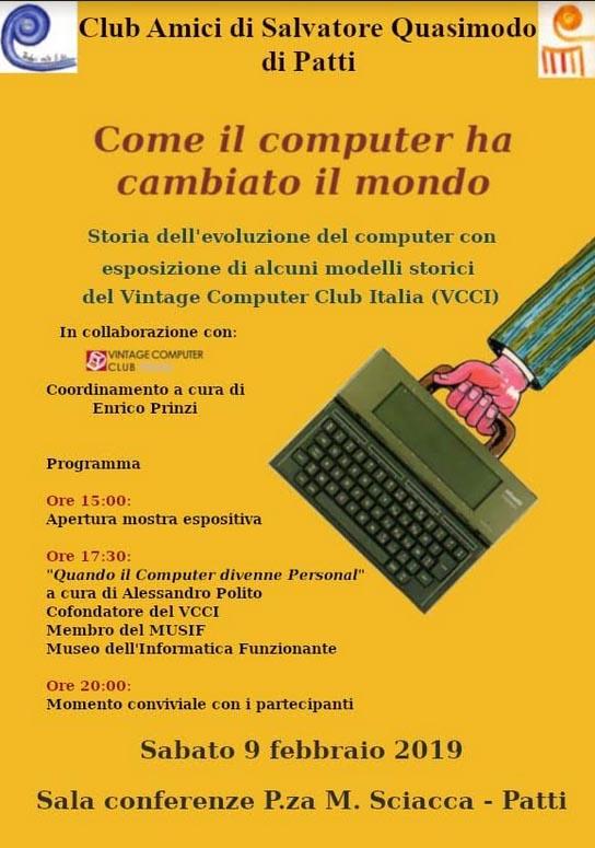Patti: «Come il computer ha cambiato il mondo», sabato 9 febbraio incontro nella sala di piazza Mario Sciacca