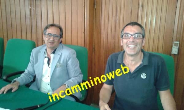 Patti: conferenza stampa di Tino Giusto e Achille Fortunato,