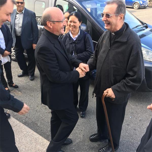 Tindari: la visita del Cardinale Giovanni Lajolo al Santuario della Madonna; guarda le FOTO