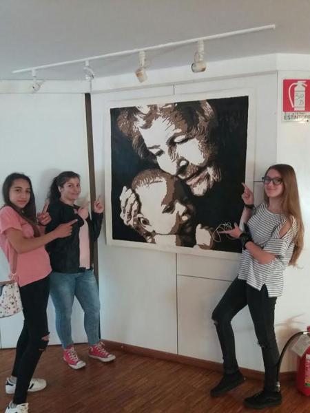 Patti: tre alunne della scuola media «Bellini» hanno partecipato a Sanremo al Concorso Internazionale di Pittura