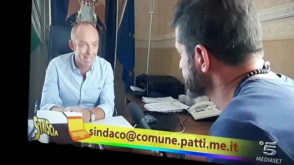 Patti: il sindaco Aquino su «Striscia la notizia» in merito al canile di Mulinello