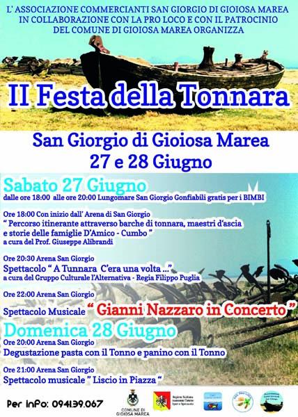 San Giorgio: oggi e domani la «Festa della Tonnara»